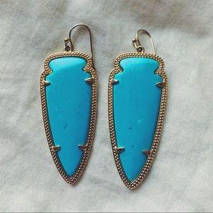 Kendra Scott Turquoise Skylar Arrow Earrings